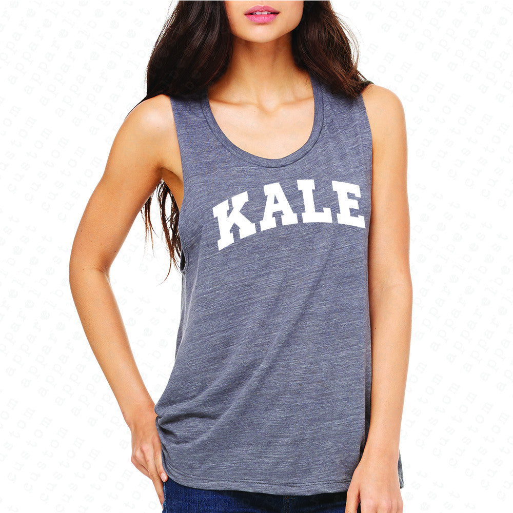 Kale WN University Gift for Vegetarian Women's Muscle Tee Vegan Fun Sleeveless - Zexpa Apparel - 2