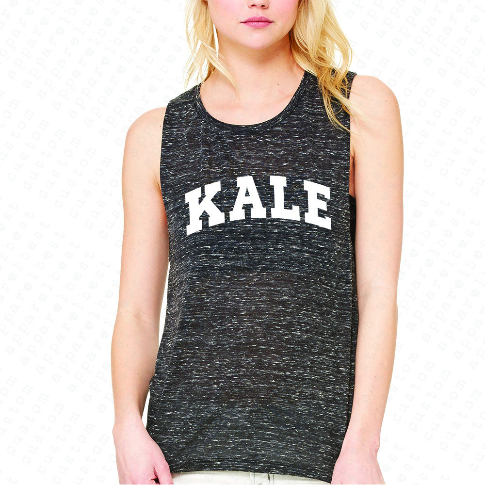 Kale WN University Gift for Vegetarian Women's Muscle Tee Vegan Fun Sleeveless - Zexpa Apparel - 3