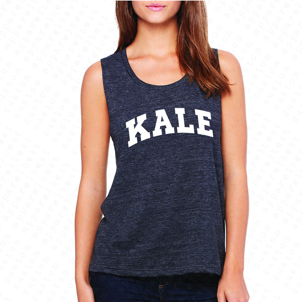 Kale WN University Gift for Vegetarian Women's Muscle Tee Vegan Fun Sleeveless - Zexpa Apparel