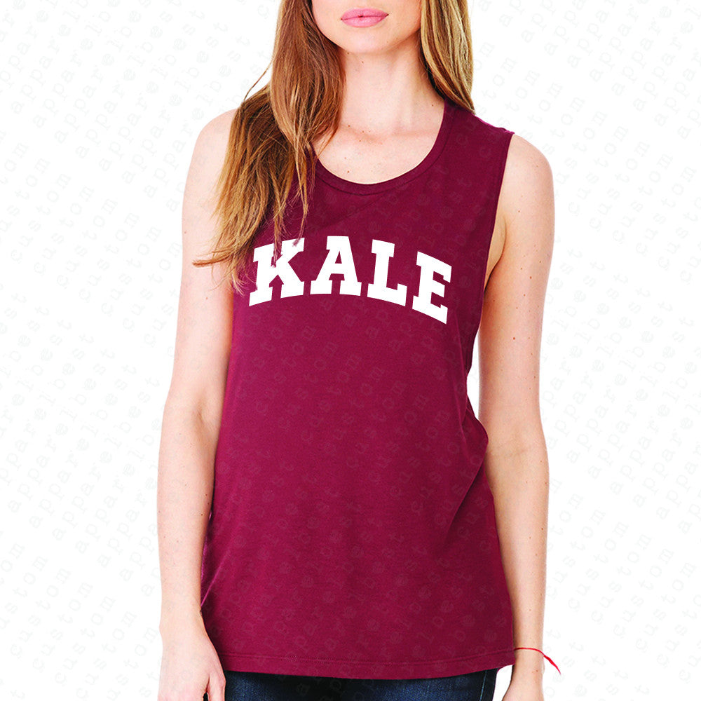 Kale WN University Gift for Vegetarian Women's Muscle Tee Vegan Fun Sleeveless - Zexpa Apparel - 4