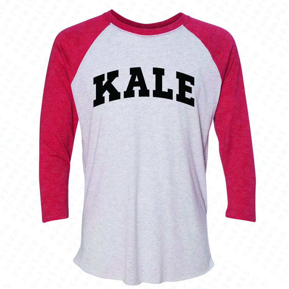 Kale WN University Gift for Vegetarian 3/4 Sleevee Raglan Tee Vegan Fun Tee - Zexpa Apparel - 2