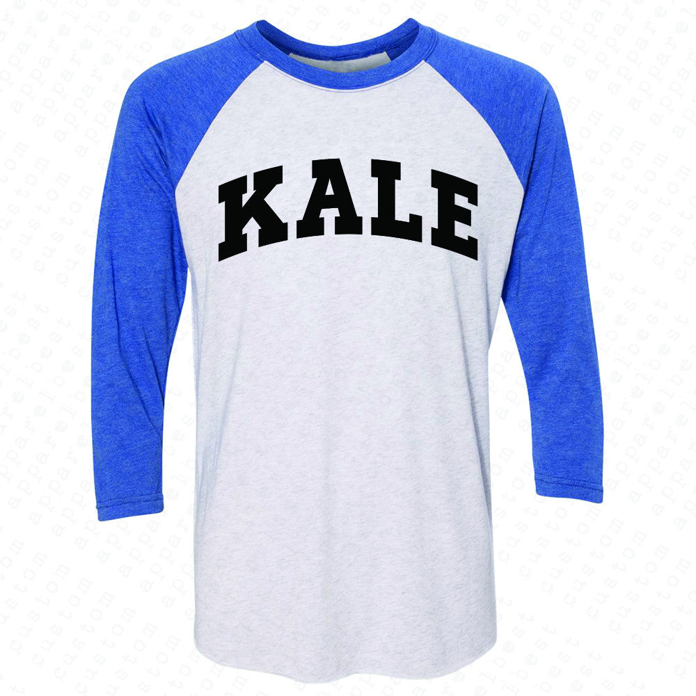 Kale WN University Gift for Vegetarian 3/4 Sleevee Raglan Tee Vegan Fun Tee - Zexpa Apparel - 3
