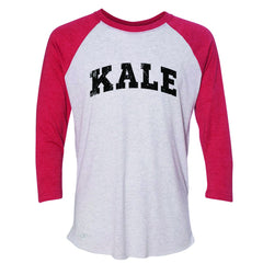 Kale W University Gift for Vegetarian 3/4 Sleevee Raglan Tee Vegan Fun Tee - Zexpa Apparel - 2