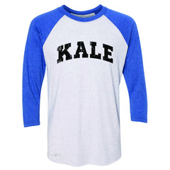 Kale W University Gift for Vegetarian 3/4 Sleevee Raglan Tee Vegan Fun Tee - Zexpa Apparel - 3