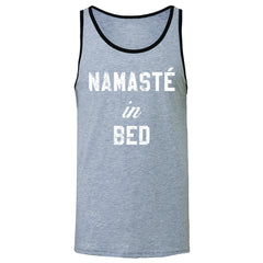 Zexpa Apparel™ Namaste in Bed Namastay Cool W Font  Men's Jersey Tank Yoga Funny Sleeveless - Zexpa Apparel Halloween Christmas Shirts