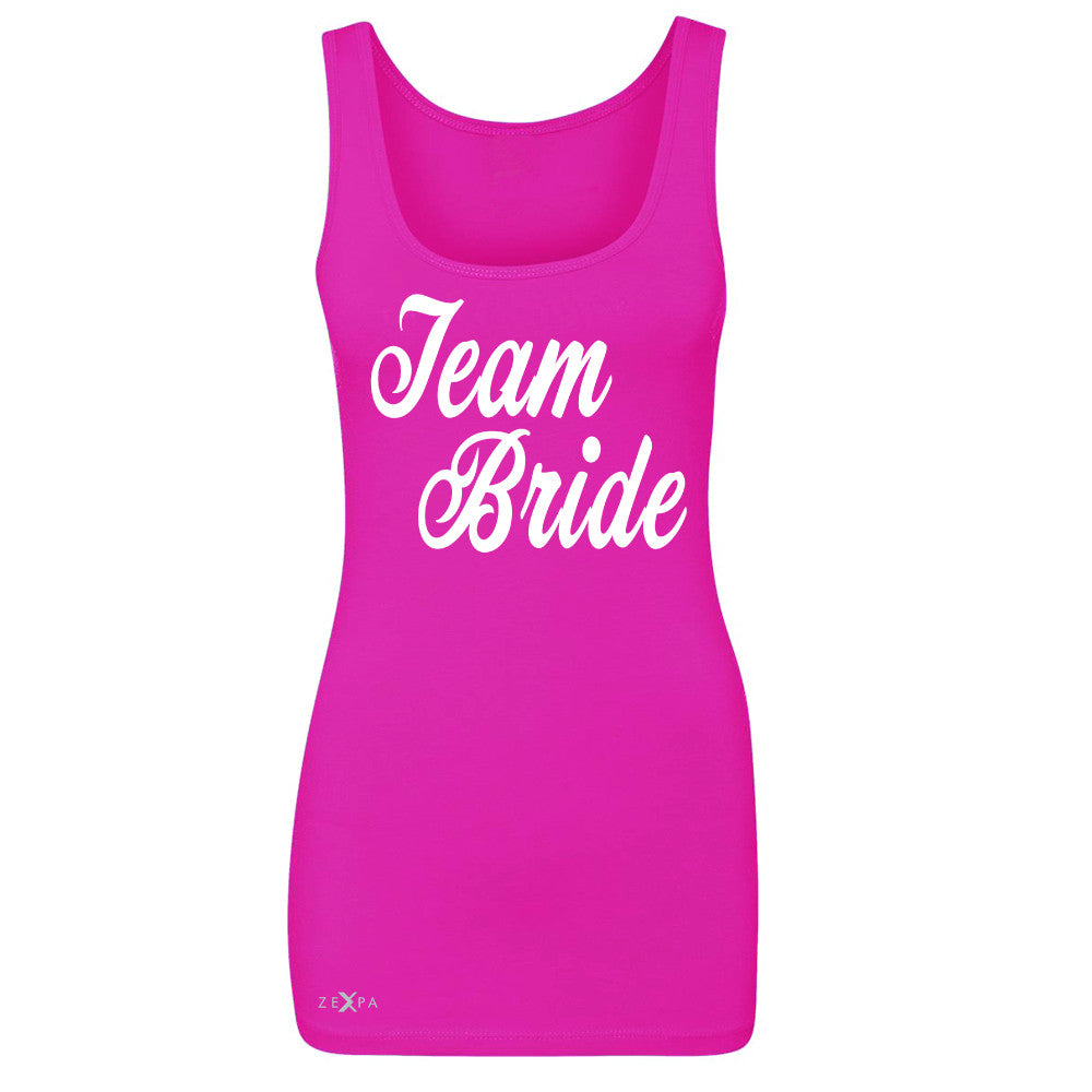 Team Bride - Friends and Family of Bride Women's Tank Top Wedding Sleeveless - Zexpa Apparel - 2