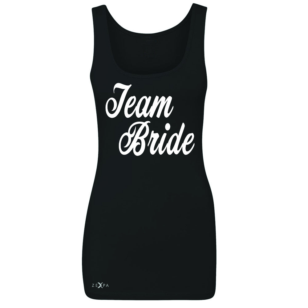 Team Bride - Friends and Family of Bride Women's Tank Top Wedding Sleeveless - Zexpa Apparel - 1