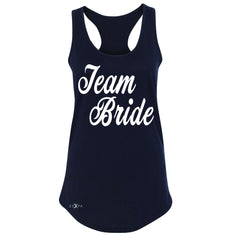 Team Bride - Friends and Family of Bride Women's Racerback Wedding Sleeveless - Zexpa Apparel - 1