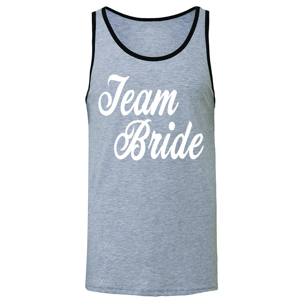 Team Bride - Friends and Family of Bride Men's Jersey Tank Wedding Sleeveless - Zexpa Apparel - 2