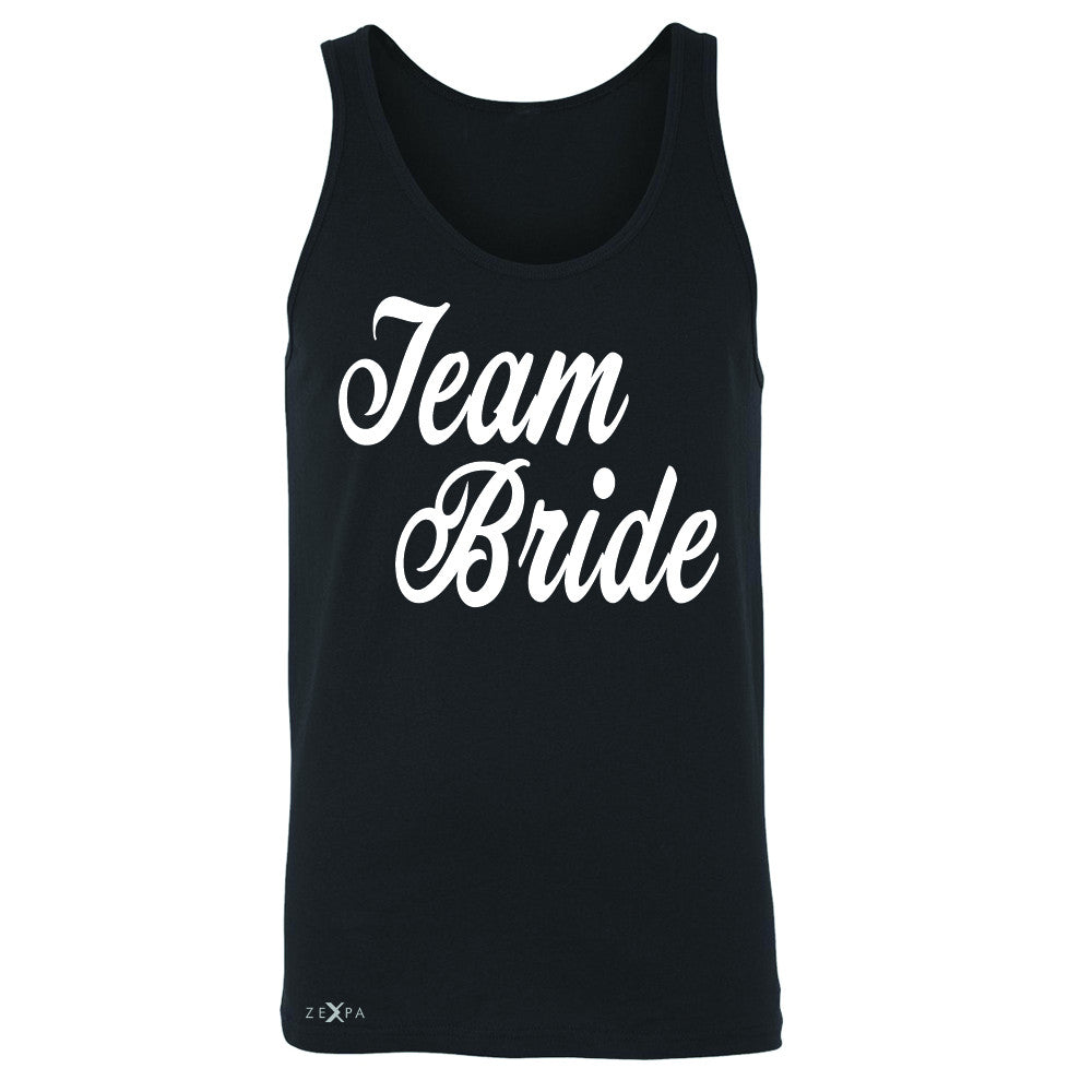 Team Bride - Friends and Family of Bride Men's Jersey Tank Wedding Sleeveless - Zexpa Apparel - 1