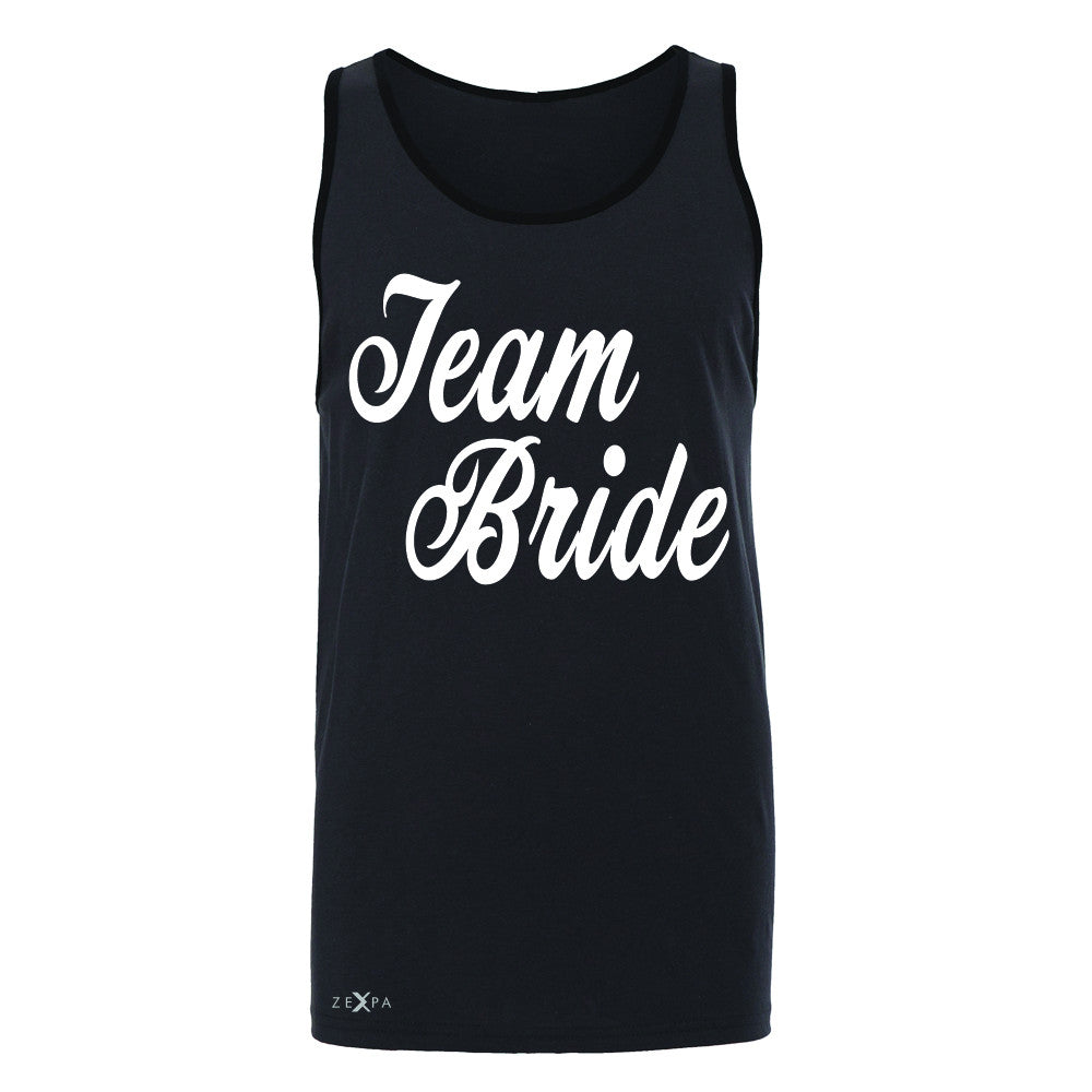 Team Bride - Friends and Family of Bride Men's Jersey Tank Wedding Sleeveless - Zexpa Apparel - 3