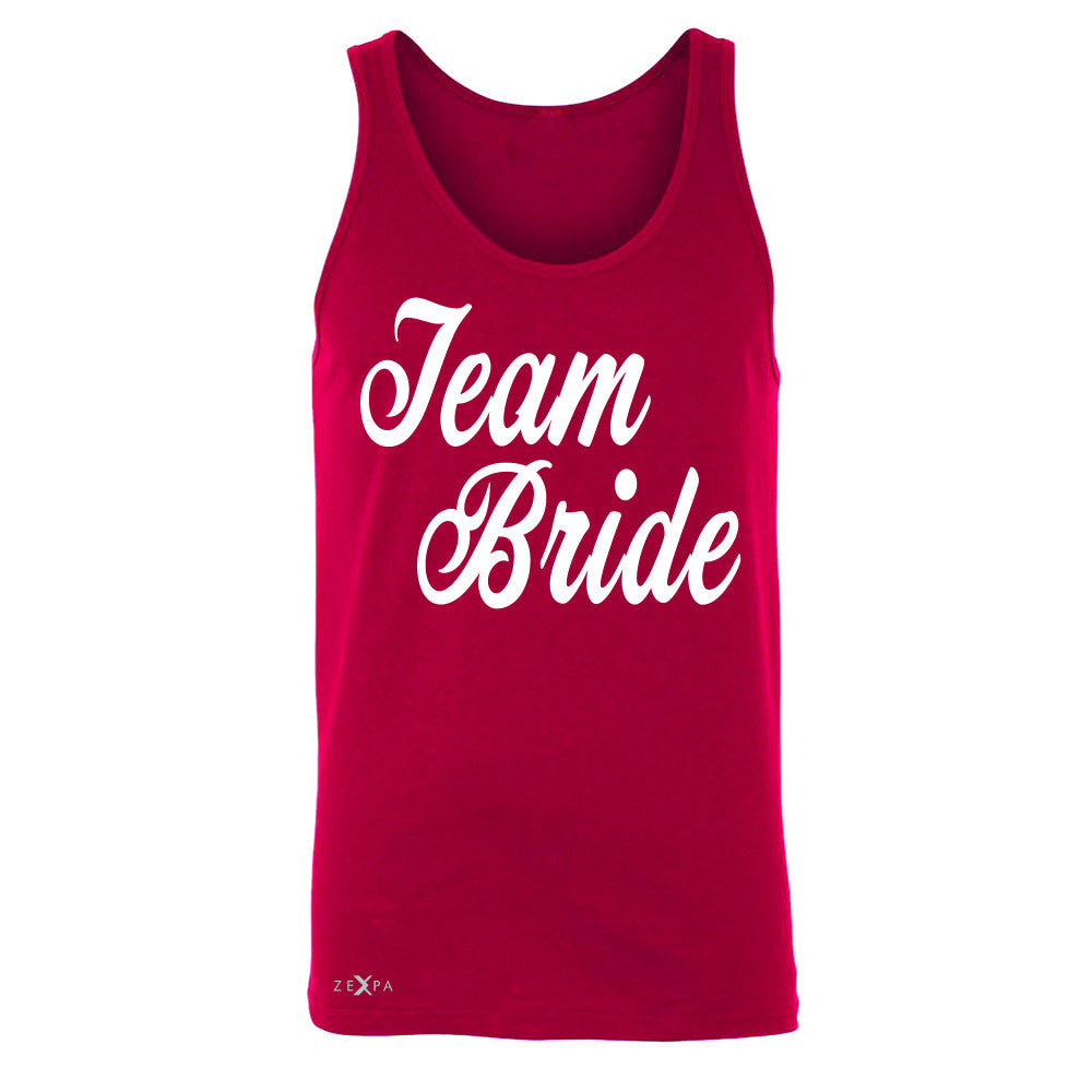 Team Bride - Friends and Family of Bride Men's Jersey Tank Wedding Sleeveless - Zexpa Apparel - 4