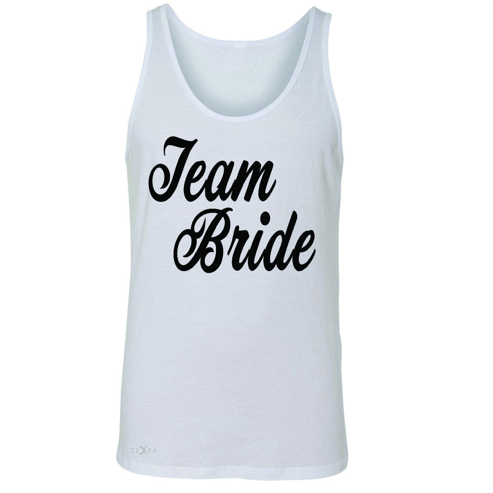 Team Bride - Friends and Family of Bride Men's Jersey Tank Wedding Sleeveless - Zexpa Apparel - 5