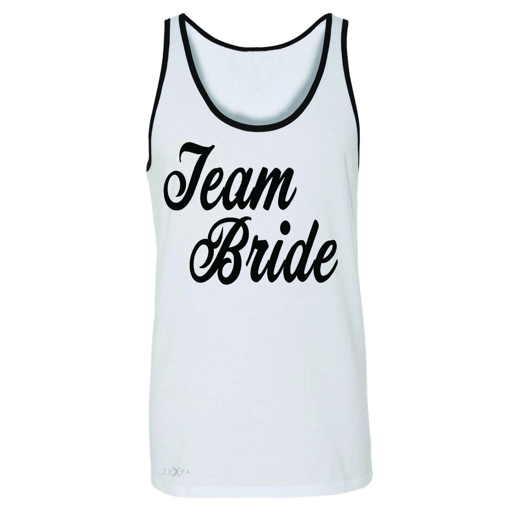 Team Bride - Friends and Family of Bride Men's Jersey Tank Wedding Sleeveless - Zexpa Apparel - 6