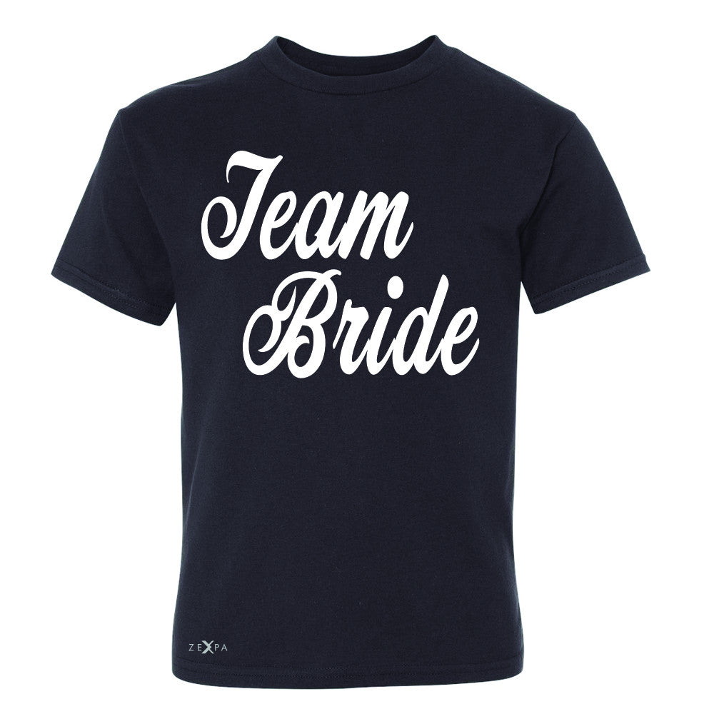 Team Bride - Friends and Family of Bride Youth T-shirt Wedding Tee - Zexpa Apparel - 1