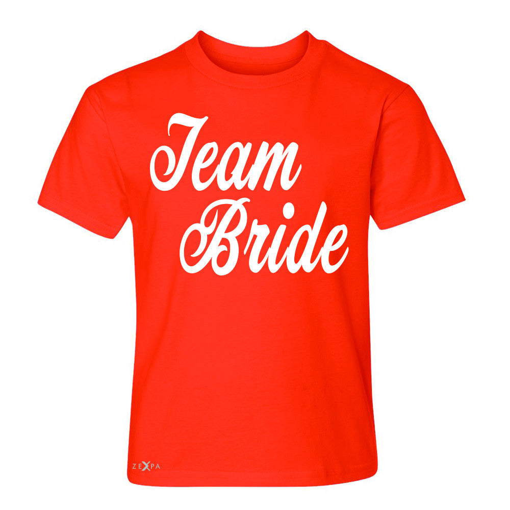 Team Bride - Friends and Family of Bride Youth T-shirt Wedding Tee - Zexpa Apparel - 2
