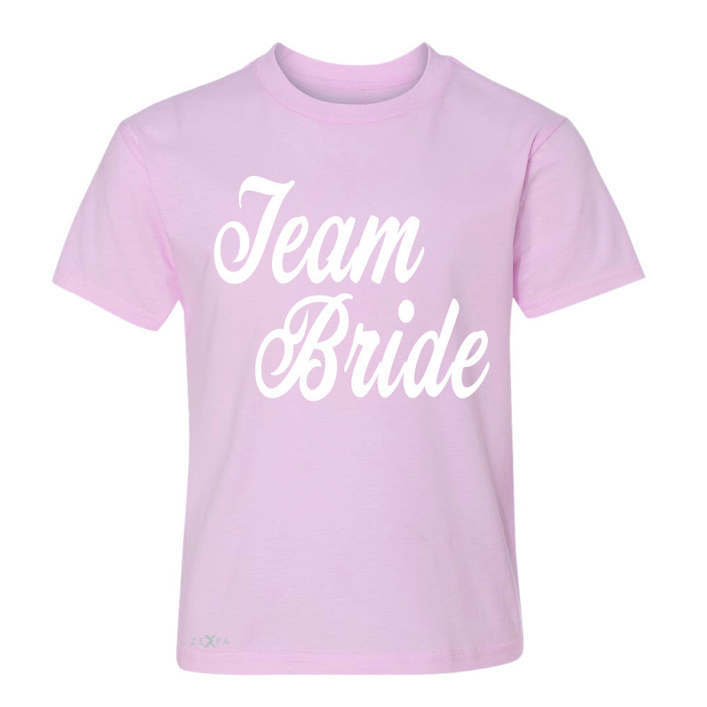 Team Bride - Friends and Family of Bride Youth T-shirt Wedding Tee - Zexpa Apparel - 3