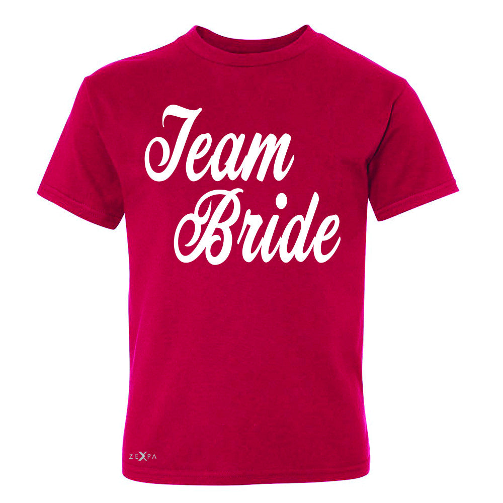 Team Bride - Friends and Family of Bride Youth T-shirt Wedding Tee - Zexpa Apparel - 4