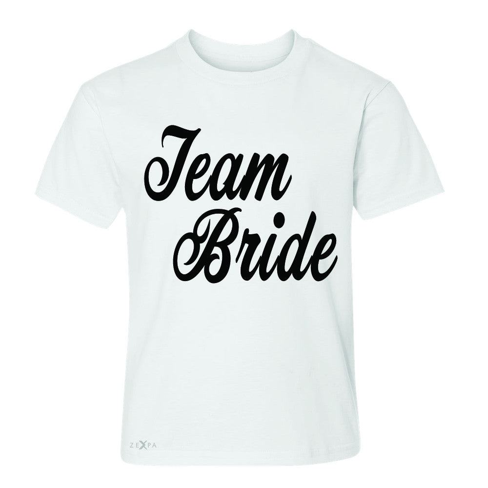 Team Bride - Friends and Family of Bride Youth T-shirt Wedding Tee - Zexpa Apparel - 5