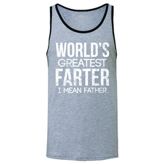 World's Best Farter I Mean Father D Men's Jersey Tank Father's Day Sleeveless - Zexpa Apparel - 2