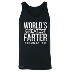 World's Best Farter I Mean Father D Men's Jersey Tank Father's Day Sleeveless - Zexpa Apparel - 1