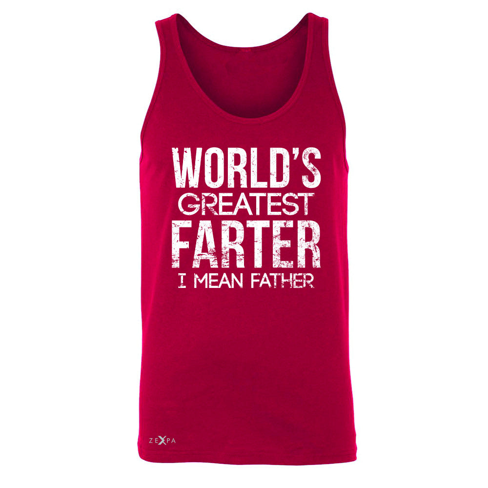 World's Best Farter I Mean Father D Men's Jersey Tank Father's Day Sleeveless - Zexpa Apparel - 4