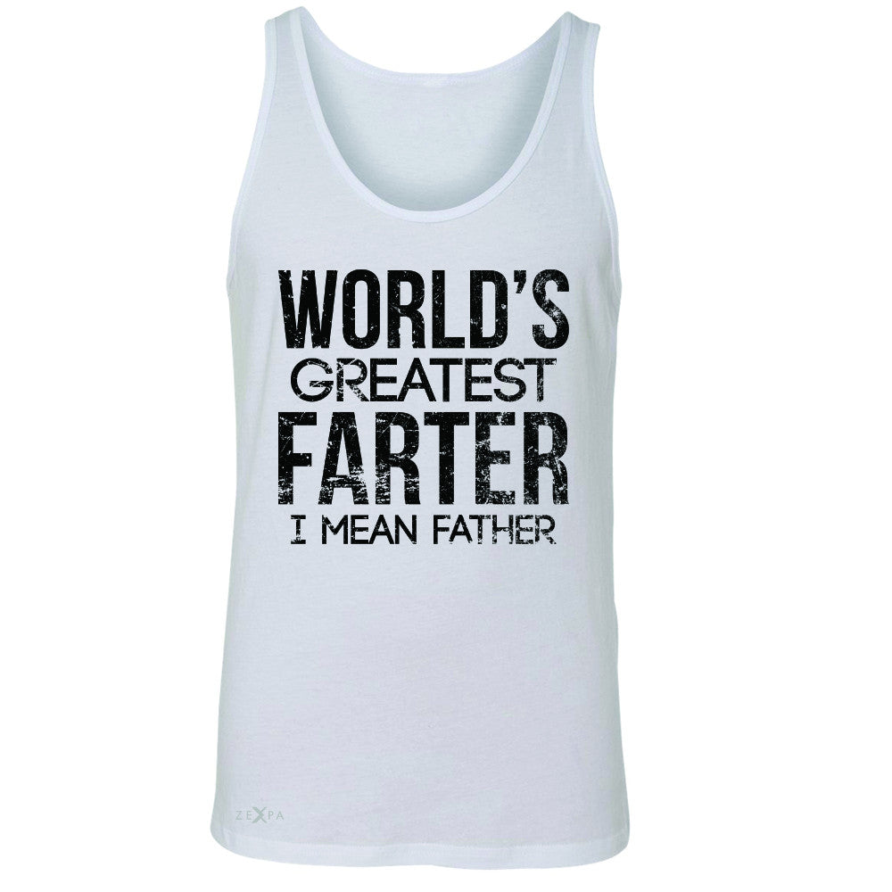 World's Best Farter I Mean Father D Men's Jersey Tank Father's Day Sleeveless - Zexpa Apparel - 5