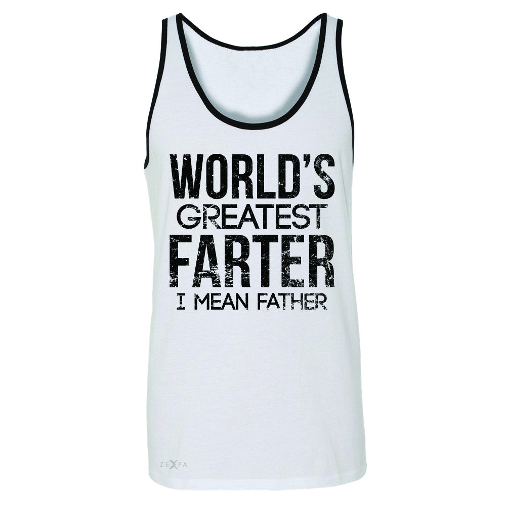 World's Best Farter I Mean Father D Men's Jersey Tank Father's Day Sleeveless - Zexpa Apparel - 6