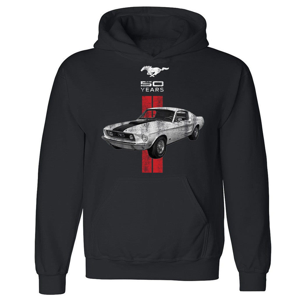 "Zexpa Apparelâ""¢ Licensed Ford Mustang 50 Years Unisex Hoodie American Classic Hooded Sweatshirt"