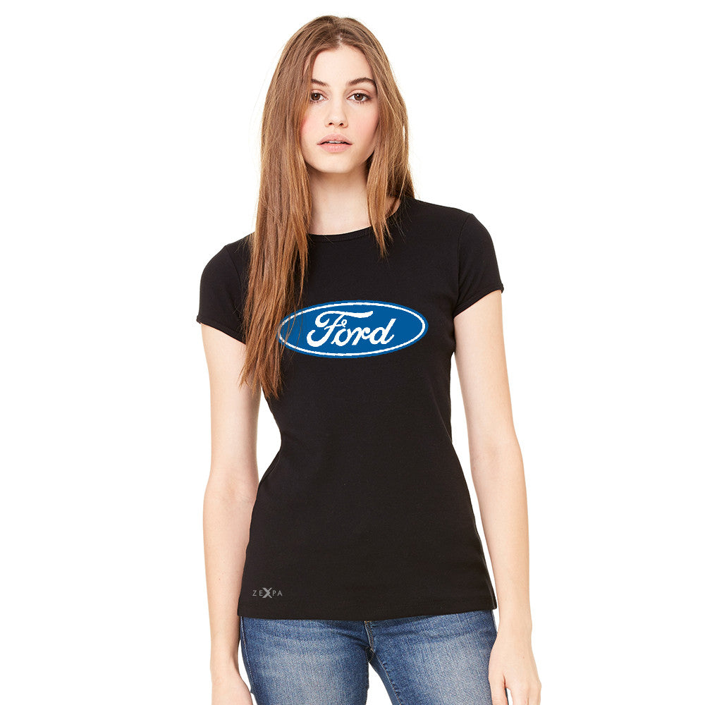 Ford Brand Logo Licensed Collective Fan Women's T-shirt Ford Tee - zexpaapparel - 2