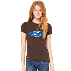 Ford Brand Logo Licensed Collective Fan Women's T-shirt Ford Tee - Zexpa Apparel