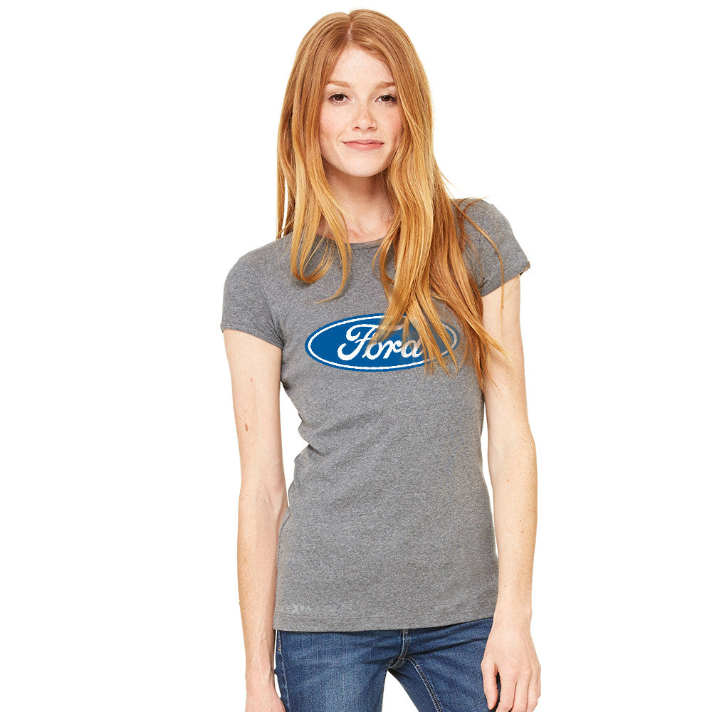 Ford Brand Logo Licensed Collective Fan Women's T-shirt Ford Tee - zexpaapparel - 3