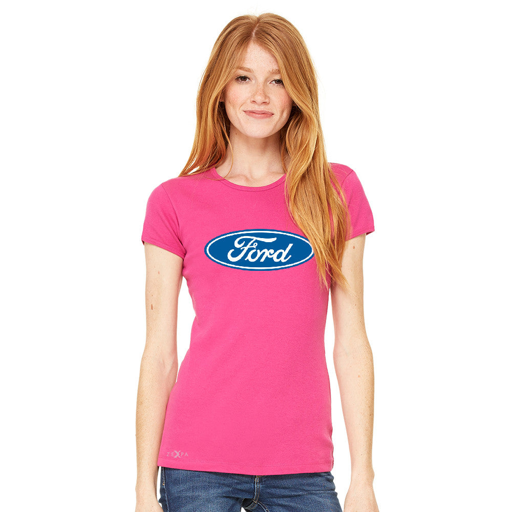 Ford Brand Logo Licensed Collective Fan Women's T-shirt Ford Tee - zexpaapparel - 4