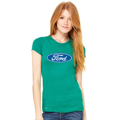 Ford Brand Logo Licensed Collective Fan Women's T-shirt Ford Tee - zexpaapparel - 5
