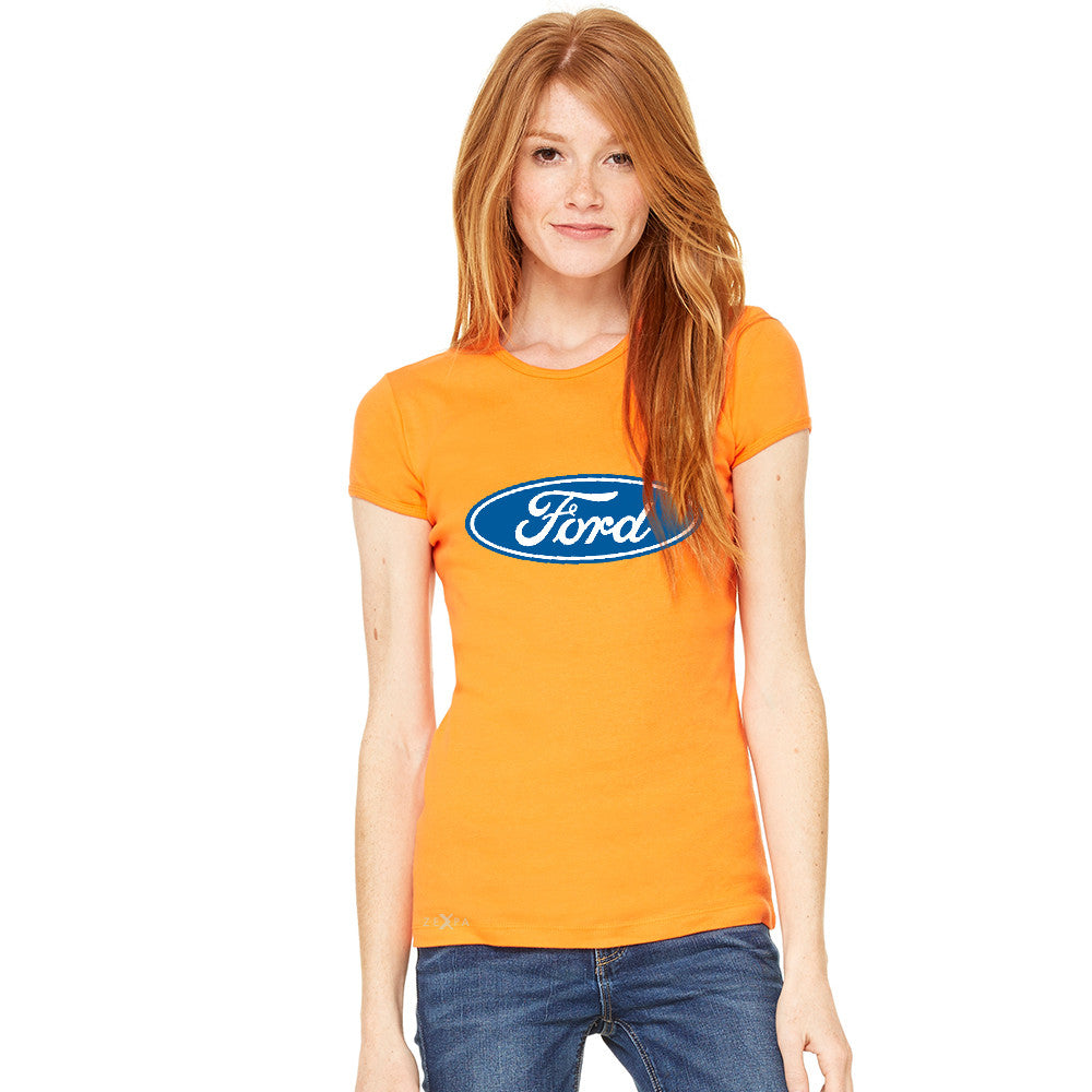 Ford Brand Logo Licensed Collective Fan Women's T-shirt Ford Tee - zexpaapparel - 6