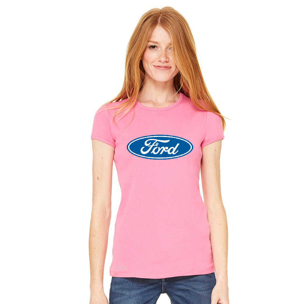 Ford Brand Logo Licensed Collective Fan Women's T-shirt Ford Tee - zexpaapparel - 9