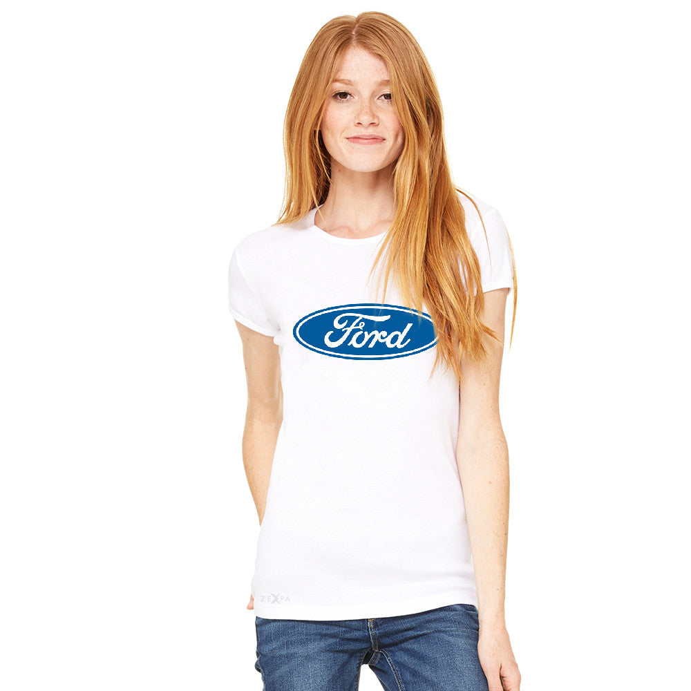 Built Tough Trucker Licensed Collective Women's T-shirt Ford Tee - Zexpa Apparel Halloween Christmas Shirts