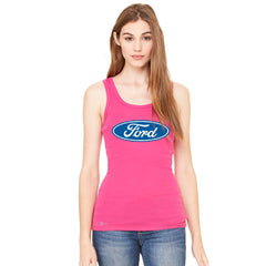 Ford Brand Logo Licensed Collective Fan Women's Tank Top Ford Sleeveless - Zexpa Apparel - 3