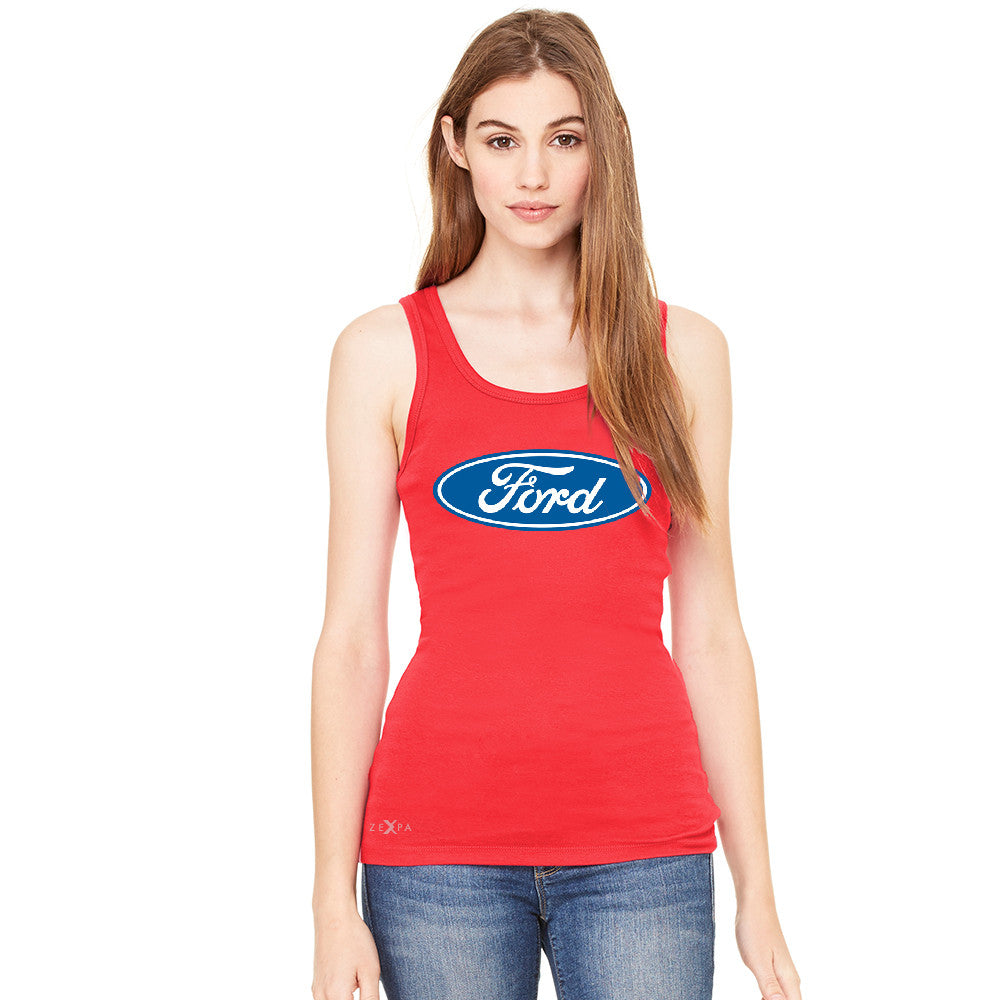 Built Tough Trucker Licensed Collective Women's Tank Top Ford Sleeveless - Zexpa Apparel Halloween Christmas Shirts