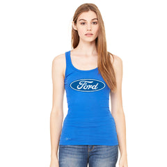 Ford Brand Logo Licensed Collective Fan Women's Tank Top Ford Sleeveless - Zexpa Apparel