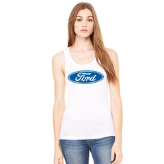 Ford Brand Logo Licensed Collective Fan Women's Tank Top Ford Sleeveless - Zexpa Apparel - 6