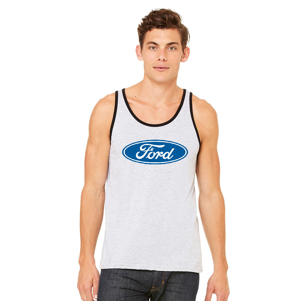 Ford Brand Logo Licensed Collective Fan Men's Jersey Tank Ford Sleeveless - Zexpa Apparel