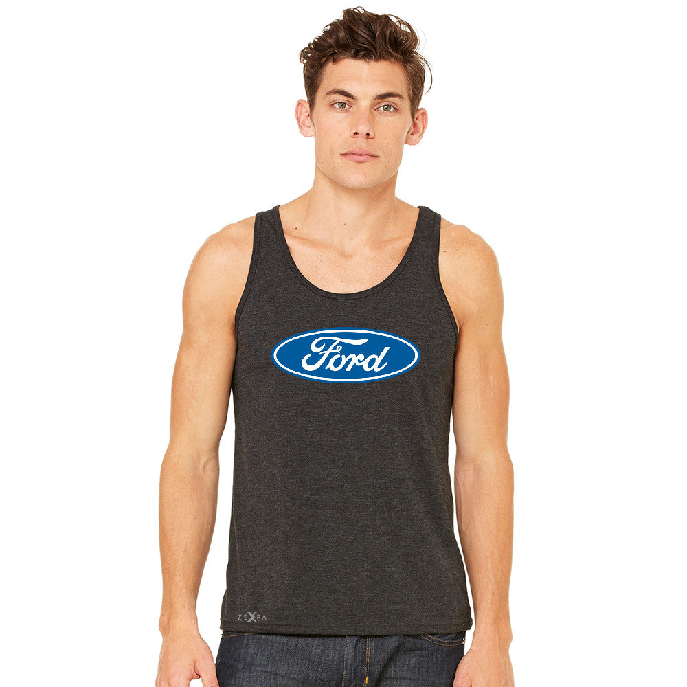 Ford Brand Logo Licensed Collective Fan Men's Jersey Tank Ford Sleeveless - zexpaapparel - 3