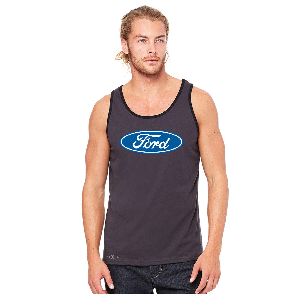 Built Tough Trucker Licensed Collective Men's Jersey Tank Ford Sleeveless - Zexpa Apparel Halloween Christmas Shirts