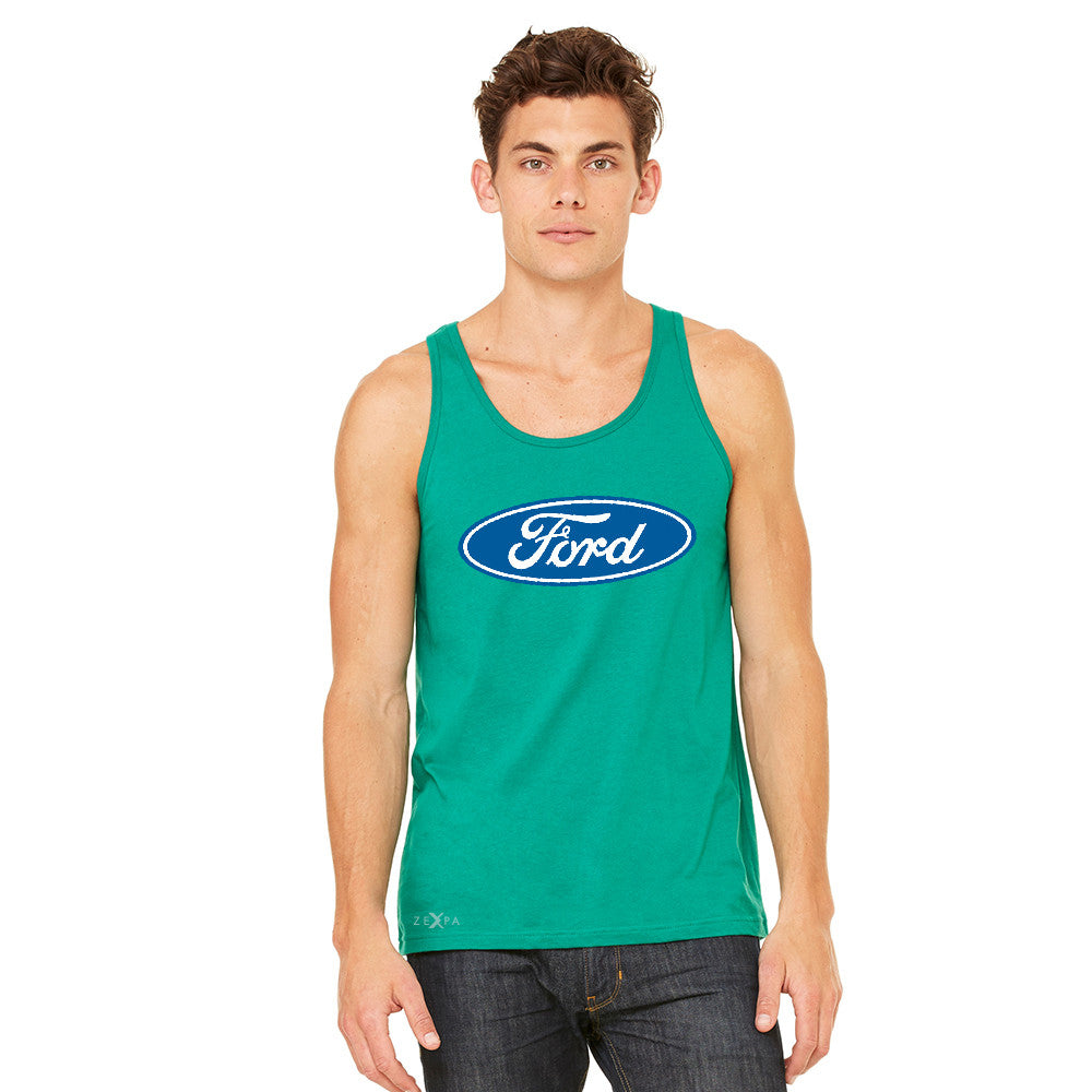Ford Brand Logo Licensed Collective Fan Men's Jersey Tank Ford Sleeveless - zexpaapparel - 7