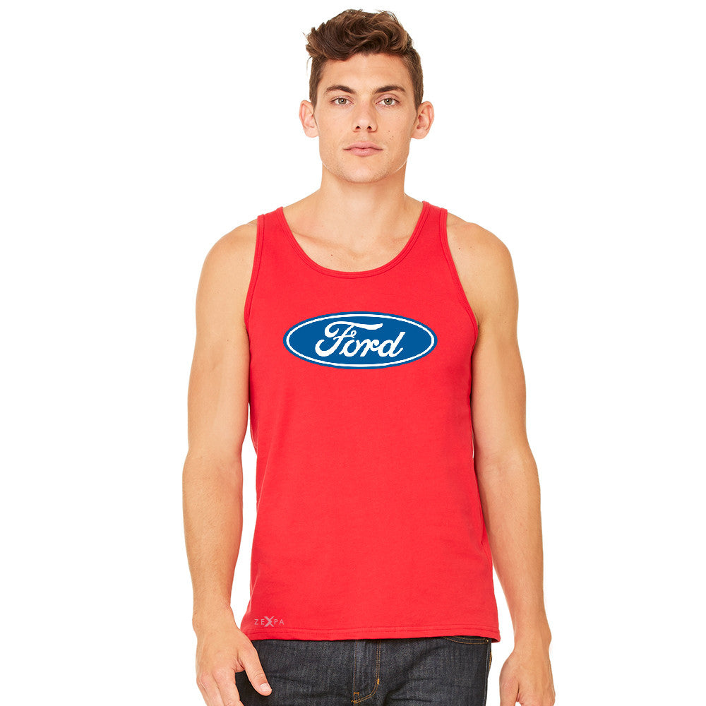 Ford Brand Logo Licensed Collective Fan Men's Jersey Tank Ford Sleeveless - zexpaapparel - 8