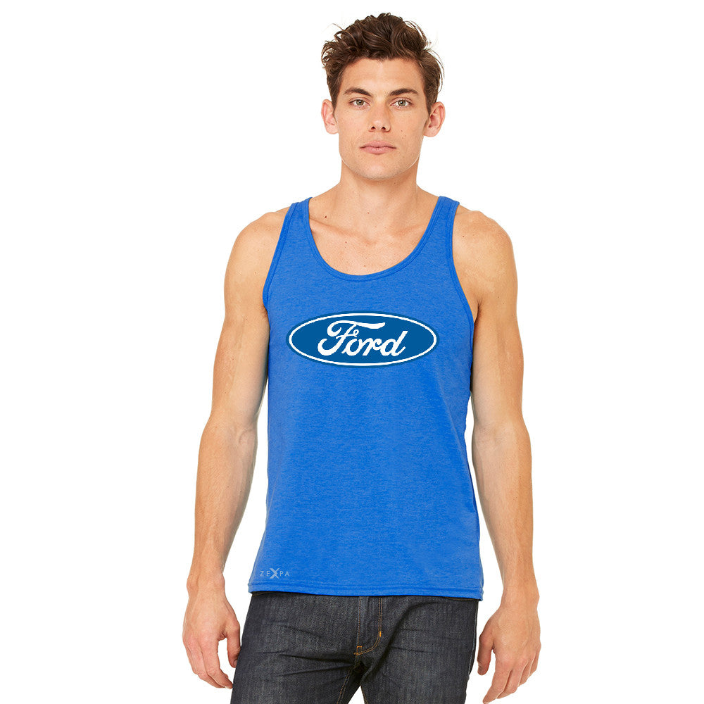 Ford Brand Logo Licensed Collective Fan Men's Jersey Tank Ford Sleeveless - zexpaapparel - 9