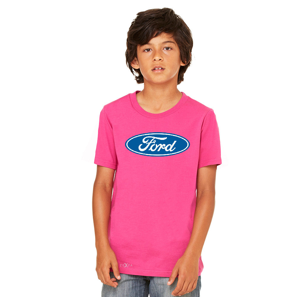 Ford Brand Logo Licensed Collective Fan Youth T-shirt Ford Tee - Zexpa Apparel - 2