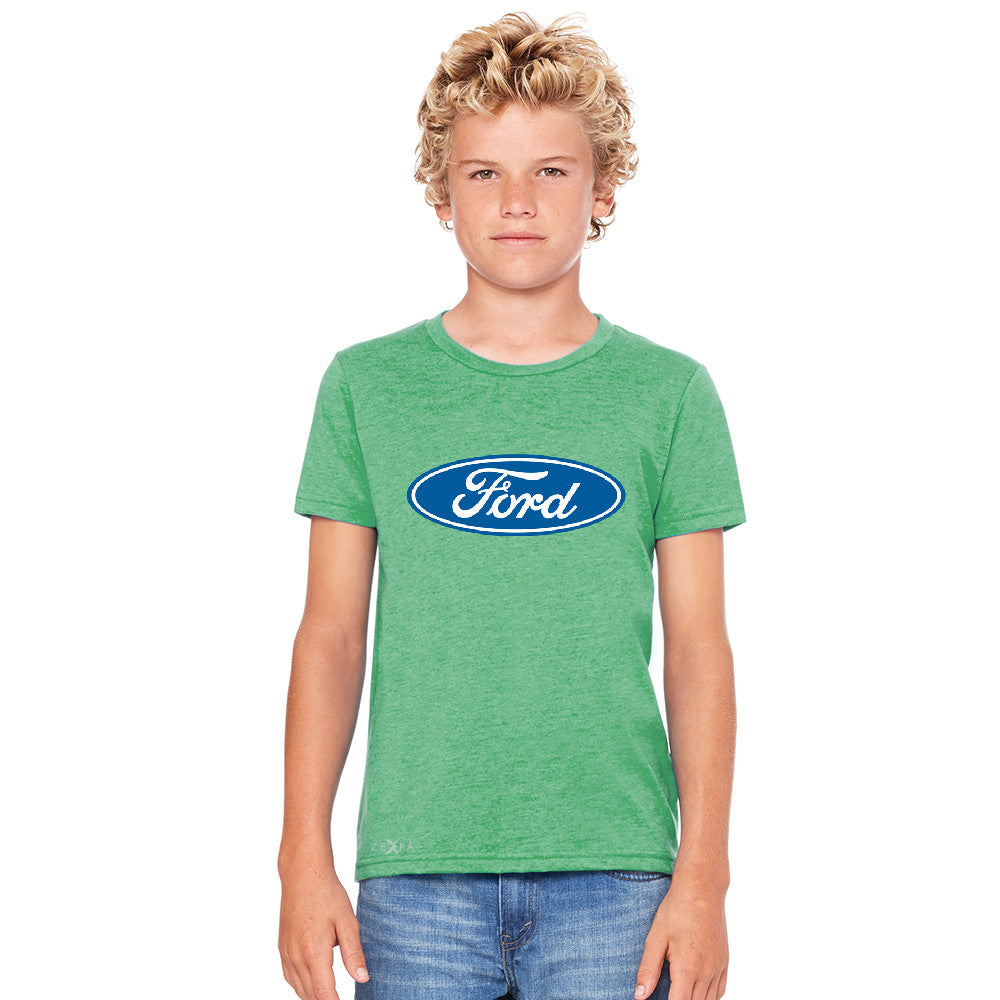 Ford Brand Logo Licensed Collective Fan Youth T-shirt Ford Tee - Zexpa Apparel - 3