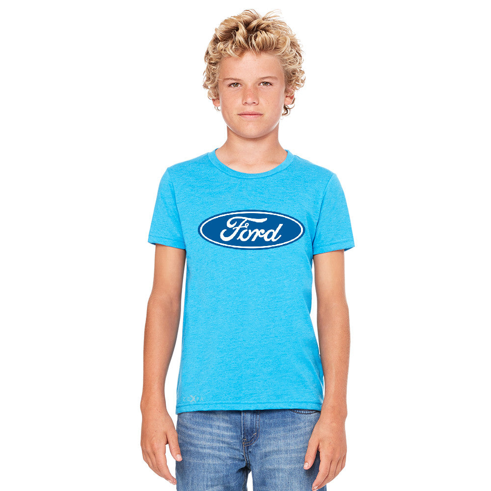Ford Brand Logo Licensed Collective Fan Youth T-shirt Ford Tee - Zexpa Apparel - 4